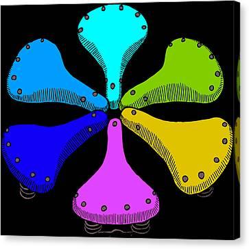 Bike Saddle Color Theory Canvas Print by Karl Addison