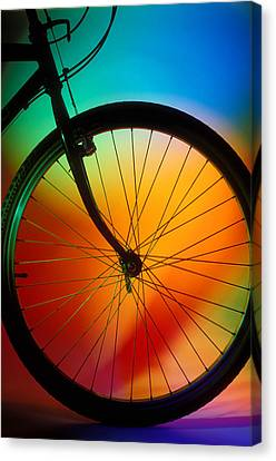 Bike Silhouette Canvas Print by Garry Gay