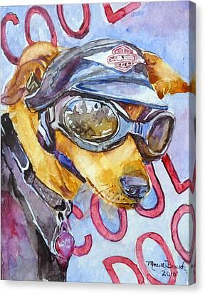 Biker Weiner Canvas Print by P Maure Bausch