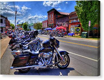 Bikes And Brews In The Adk Canvas Print