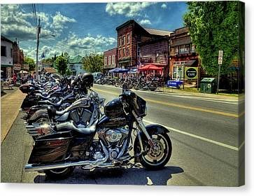 Bikes And Brews - Old Forge Ny Canvas Print