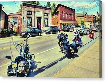 Bikes And Brews - Postcard Canvas Print