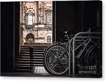 Bikes And Unversity Canvas Print by Jane Rix
