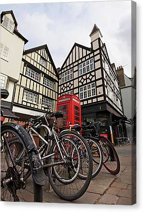 Canvas Print featuring the photograph Bikes Galore In Cambridge by Gill Billington