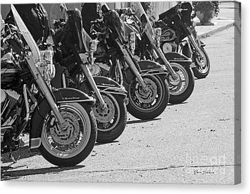 Bikes On The Line Canvas Print