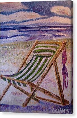 Bikini Top Canvas Print by Denise Landis