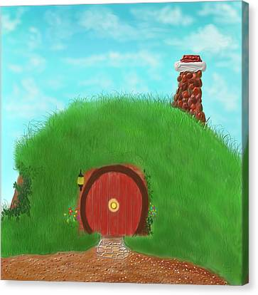 Bilbo's Home In The  Shire Canvas Print by Kevin Caudill