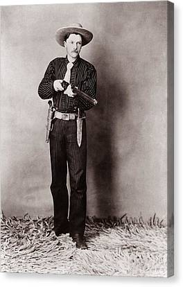 Law Enforcement Canvas Print - Bill Bennett, Wild West Detective by Everett