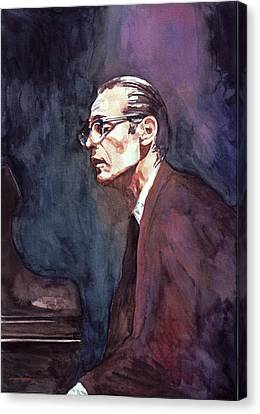 Bill Evans - Blue Symphony Canvas Print by David Lloyd Glover