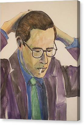 Bill Evans Canvas Print by Anita Burgermeister