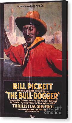 Bill Pickett (1870-1932) Canvas Print by Granger