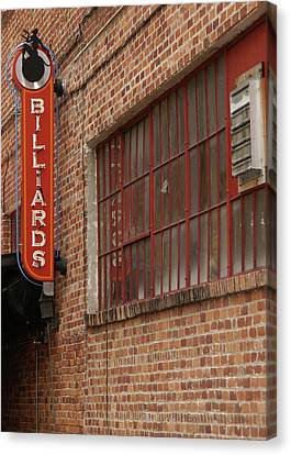 Billard To Bricks Canvas Print