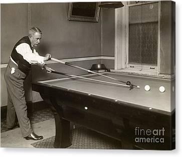 Billiard Player, C1907 Canvas Print by Granger