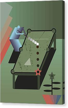 Billiards Canvas Print by Benjamin Gottwald