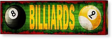 Billiards Canvas Print by David G Paul