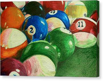Billiards Time Canvas Print by Robert Hodgson