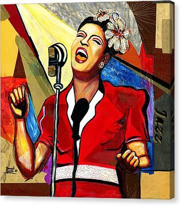 Billie Holiday Canvas Print by Everett Spruill