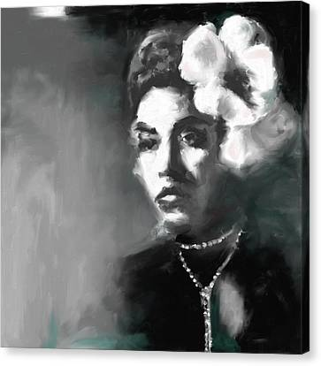 Billie Holiday 4 Canvas Print by Mawra Tahreem