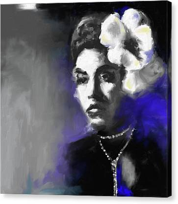 Billie Holiday 549 1 Canvas Print by Mawra Tahreem