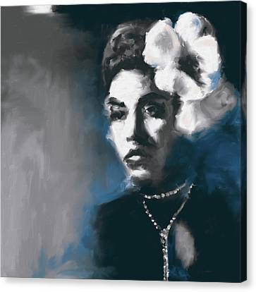 Billie Holiday 549 3 Canvas Print by Mawra Tahreem