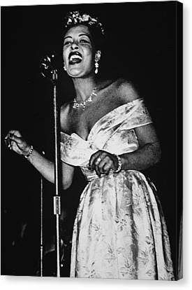 Billie Holiday Canvas Print by American School