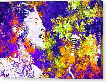 Billie Holiday Canvas Print by Brian Broadway