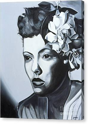 Billie Holiday Canvas Print by Kaaria Mucherera