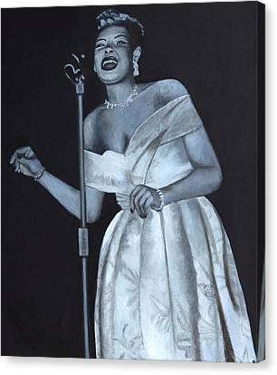 Billie Holiday Canvas Print by Patrick Kelly