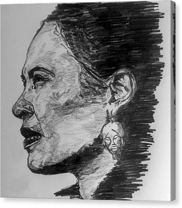 Canvas Print - Billie Holiday by Rachel Natalie Rawlins