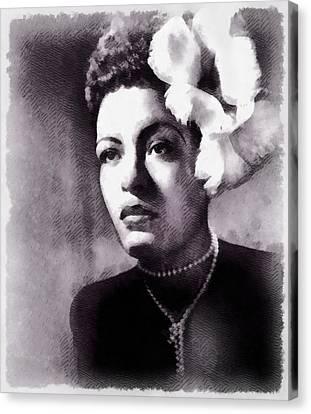 Billie Holiday, Singer Canvas Print by John Springfield