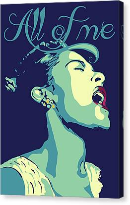 Billie Holiday Canvas Print by Greatom London