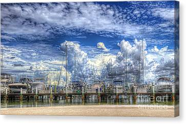 Billowy Clouds Canvas Print by Judy Rogero