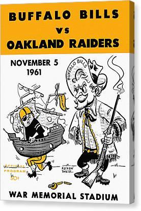 Bills Vs Raiders 1961 Program Canvas Print by John Farr