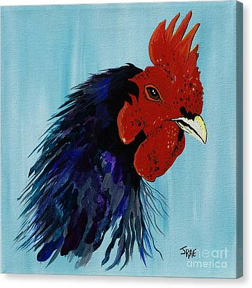 Canvas Print featuring the painting Billy Boy The Rooster by Janice Rae Pariza