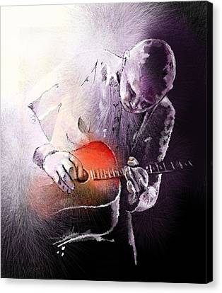 Billy Corgan Canvas Print by Miki De Goodaboom