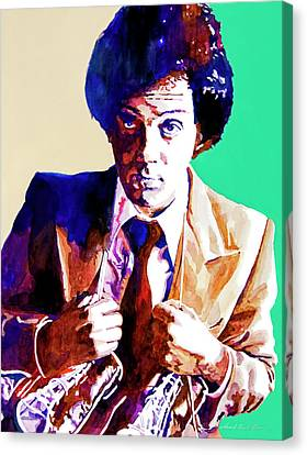Billy Joel - New York State Of Mind Canvas Print by David Lloyd Glover