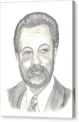 Billy Joel Portrait Canvas Print by Carol Wisniewski