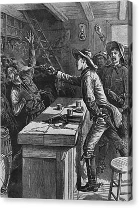 Billy The Kid 1859-81, Shooting Canvas Print by Everett