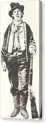 Gunman Canvas Print - Billy The Kid by American School