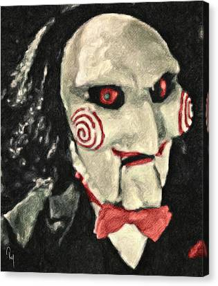 Billy The Puppet II Canvas Print by Taylan Apukovska