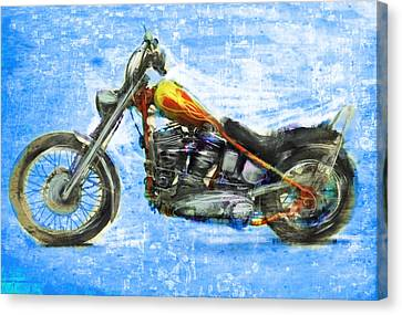 Billy's Bike Canvas Print by Russell Pierce