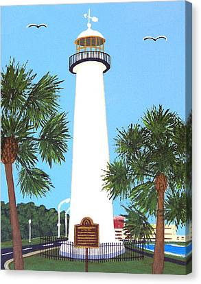 Canvas Print featuring the painting Biloxi Lighthouse by Frederic Kohli