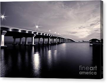 Biloxi Moods Canvas Print by Joan McCool