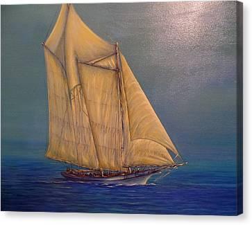 Biloxi Schooner Canvas Print by Xavier Maumus