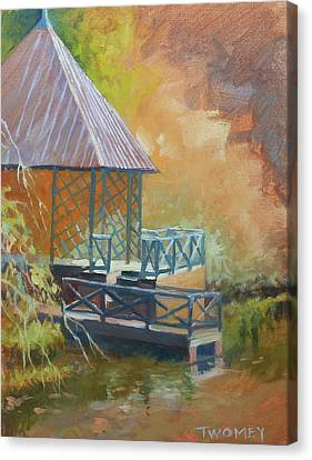 Biltmore Boat House Canvas Print by Catherine Twomey