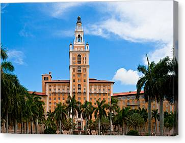 Canvas Print featuring the photograph Biltmore Hotel by Ed Gleichman
