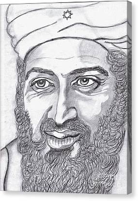 Terrorist Canvas Print - Bin Laden by Richard Heyman