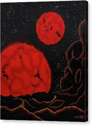 Binary Red Dwarf Stars Canvas Print by Kurt Kaf