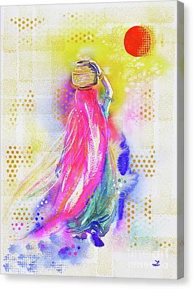 Beauty Mark Canvas Print - Bindi by Zaira Dzhaubaeva