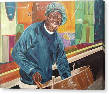 Canvas Print featuring the painting Bing Bang Broadway Blues by Kevin Callahan